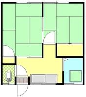 間取図/区画図:206号室間取り図