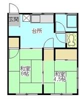 間取図/区画図:201号室間取り図
