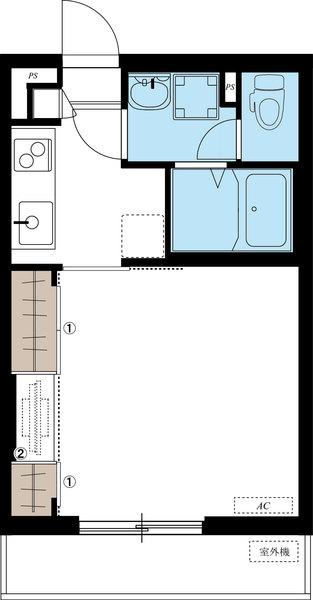 間取図/区画図:107号室間取り図