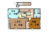 間取図/区画図:間取り図(反転)