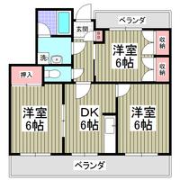 間取図/区画図:203号室間取り図