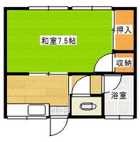 間取図/区画図:106号室間取り図