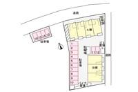 間取図/区画図:駐車場配置図