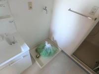 洗面室:洗濯機置き場